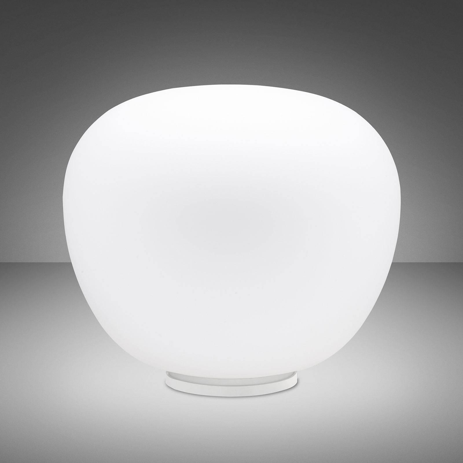 Fabbian Lumi Mochi bordlampe, liggende, Ø 45 cm