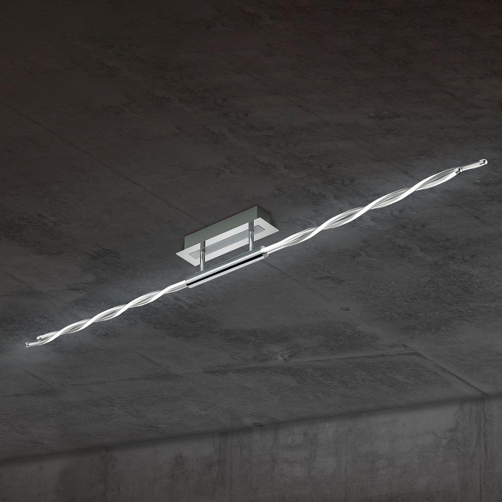 Interessant snirklet LED-taklampe Portofino