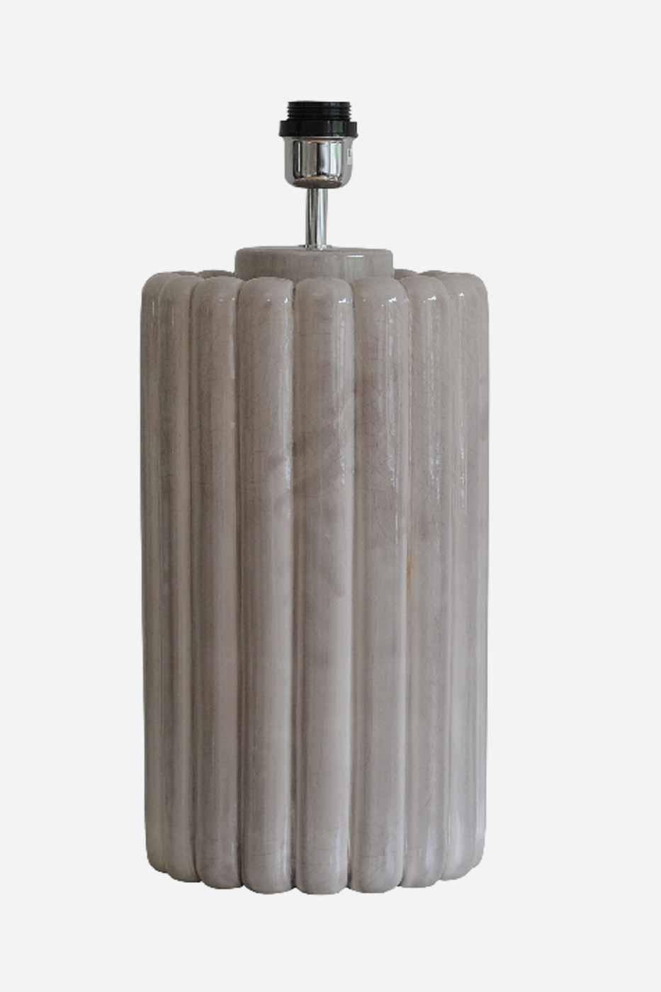 Lampfot Odessa 49 cm Grey Crack