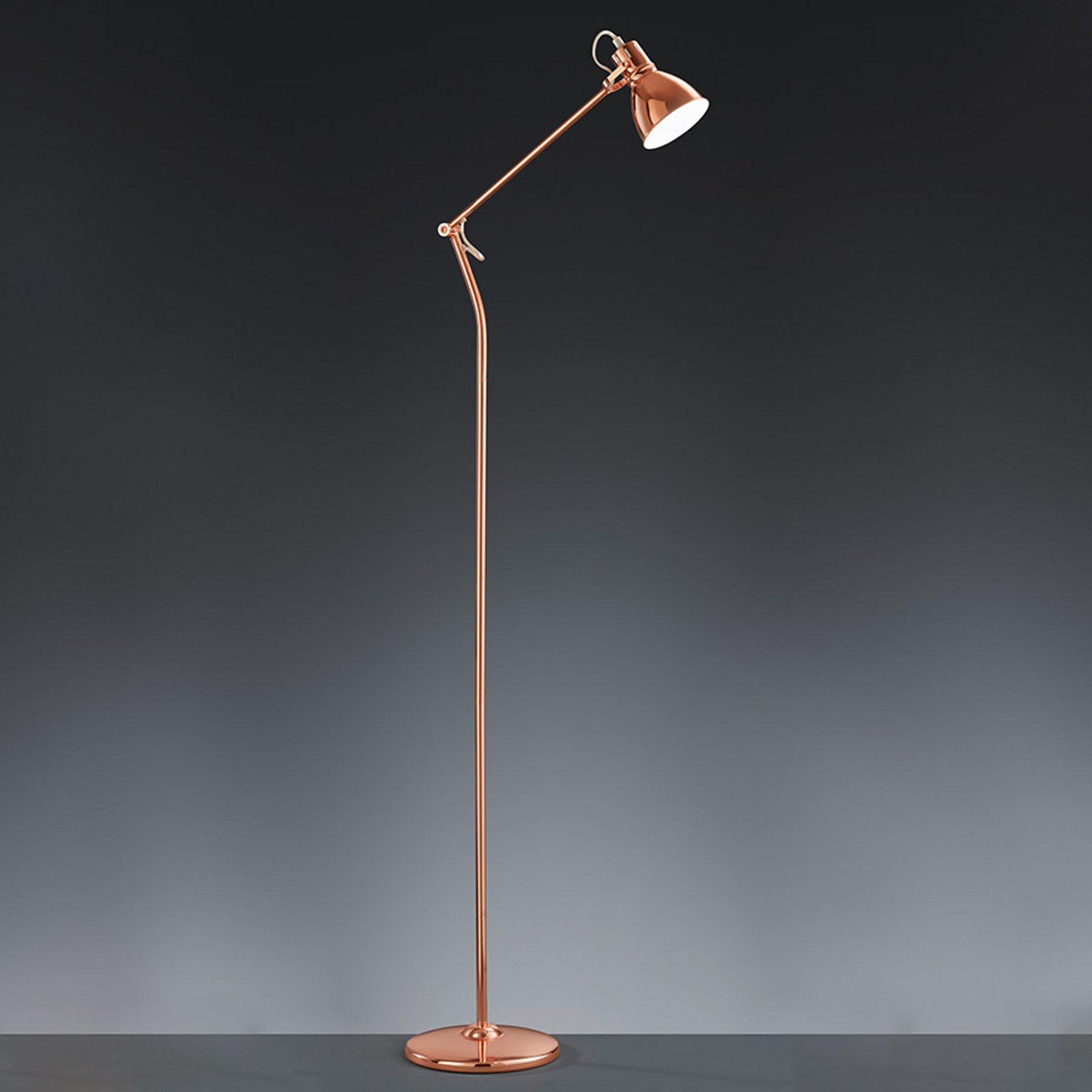 Kobberfarget stålampe Keali