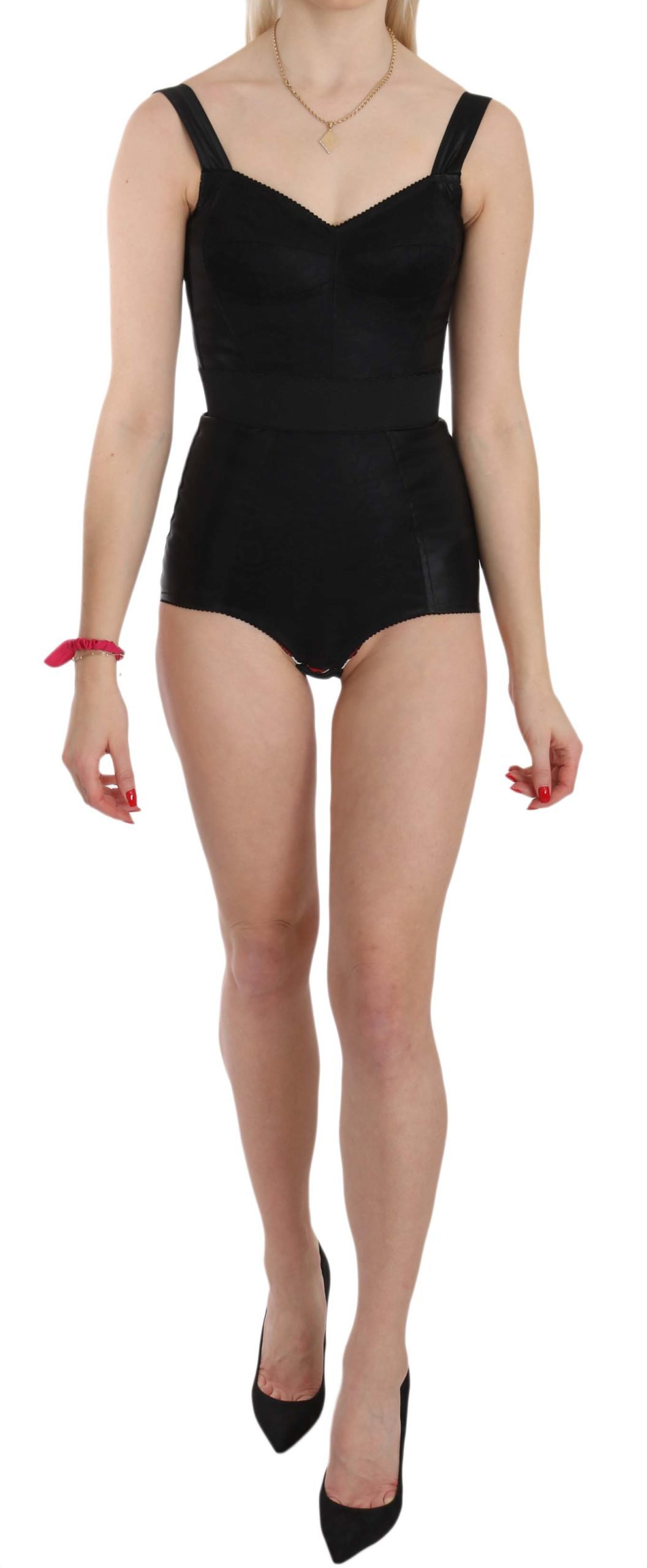 Dolce & Gabbana Women's Romper Stretch Dress Black BIK104 - IT36 | XS