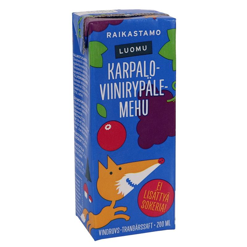 Eko Fruktdryck Vindruva och Tranbär - 37% rabatt