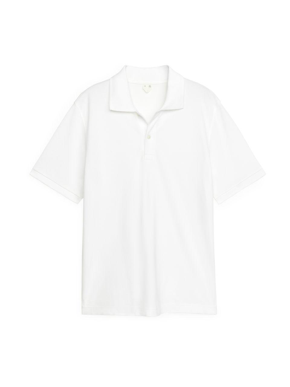 Piqué Polo Shirt - White