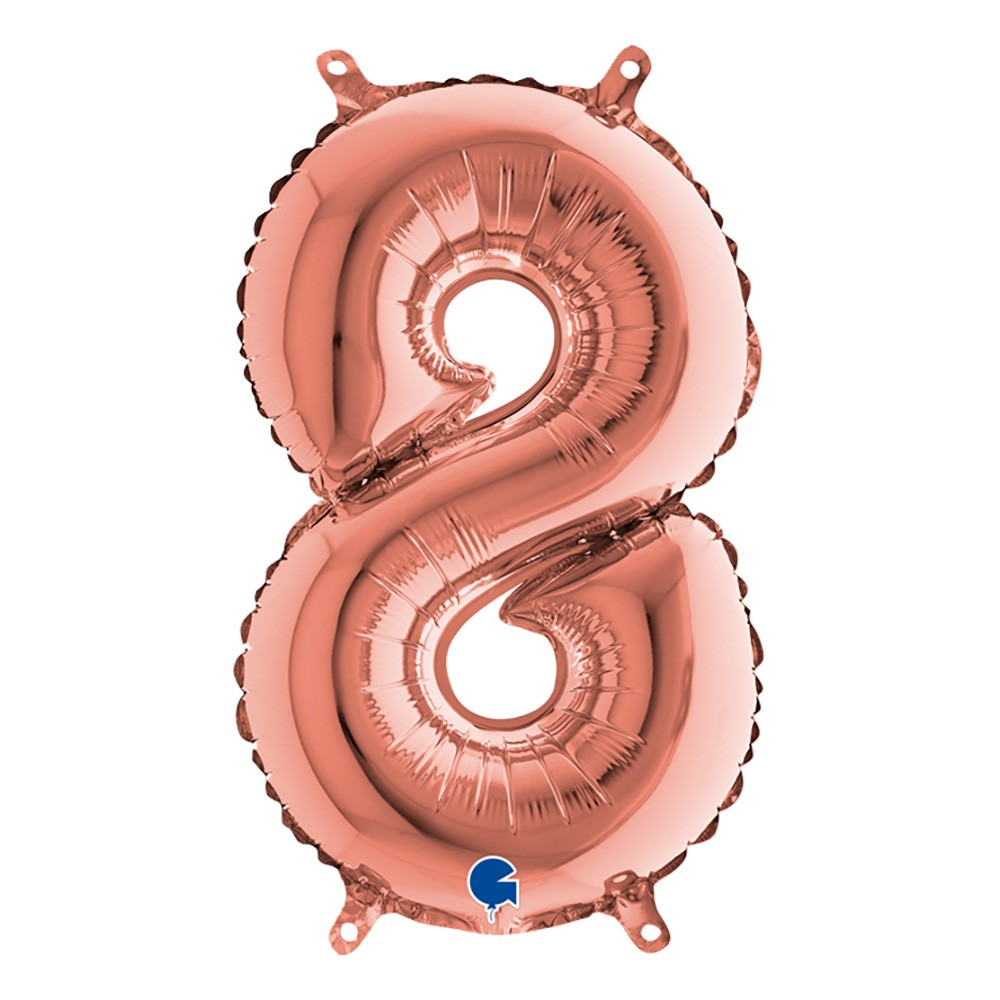 Sifferballong Mini Roséguld Metallic - Siffra 8