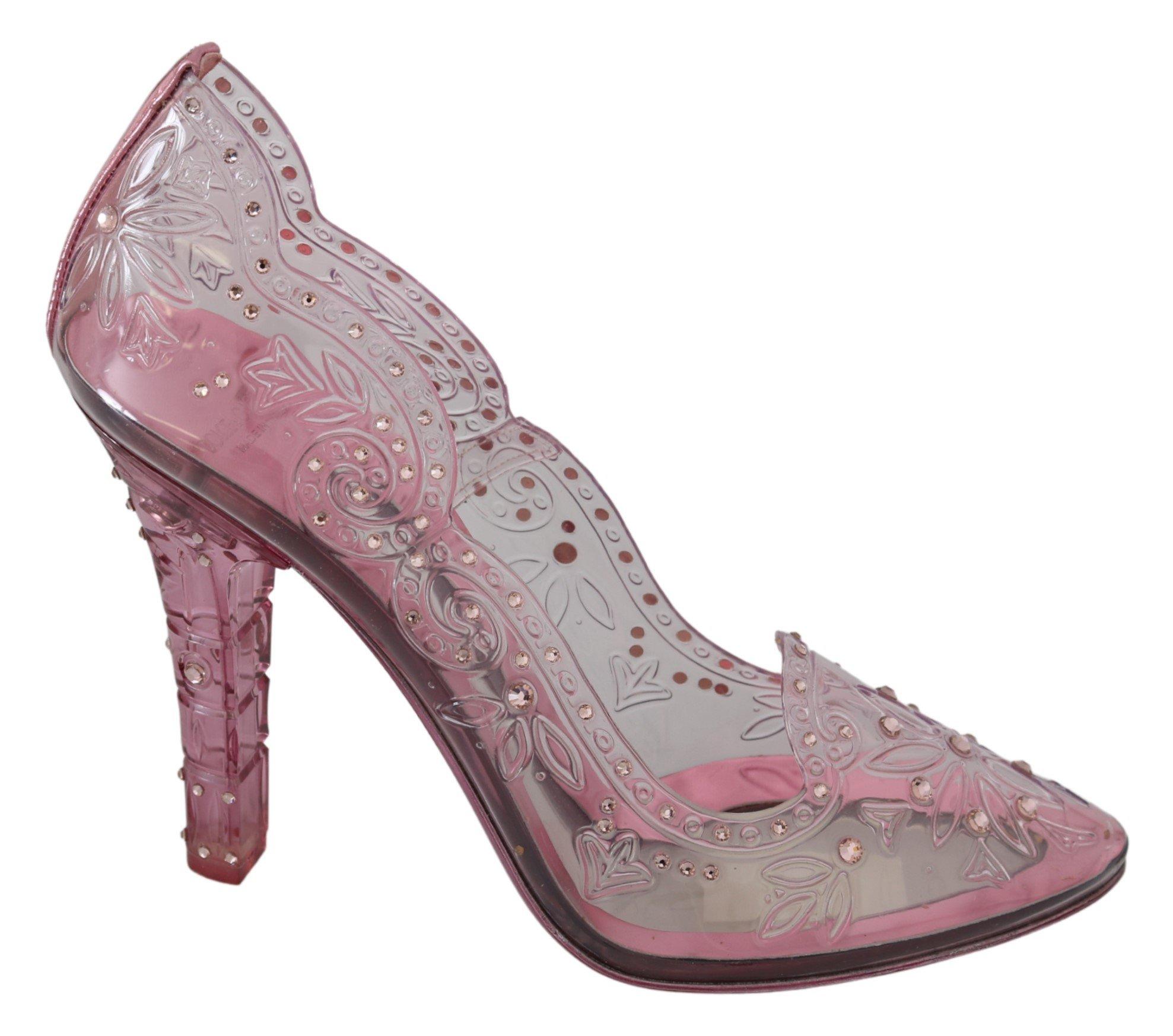 Dolce & Gabbana Women's Crystal Floral CINDERELLA Pumps Pink LA7277 - EU40/US9.5