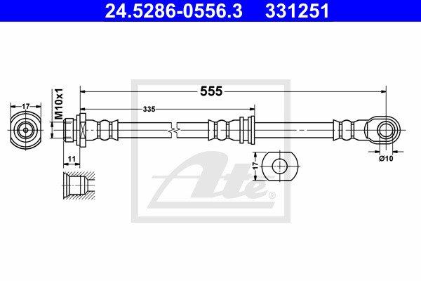 Jarruletku ATE 24.5286-0556.3