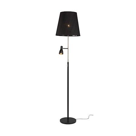 Costello Gulvlampe Mattsvart LED E27+3 W