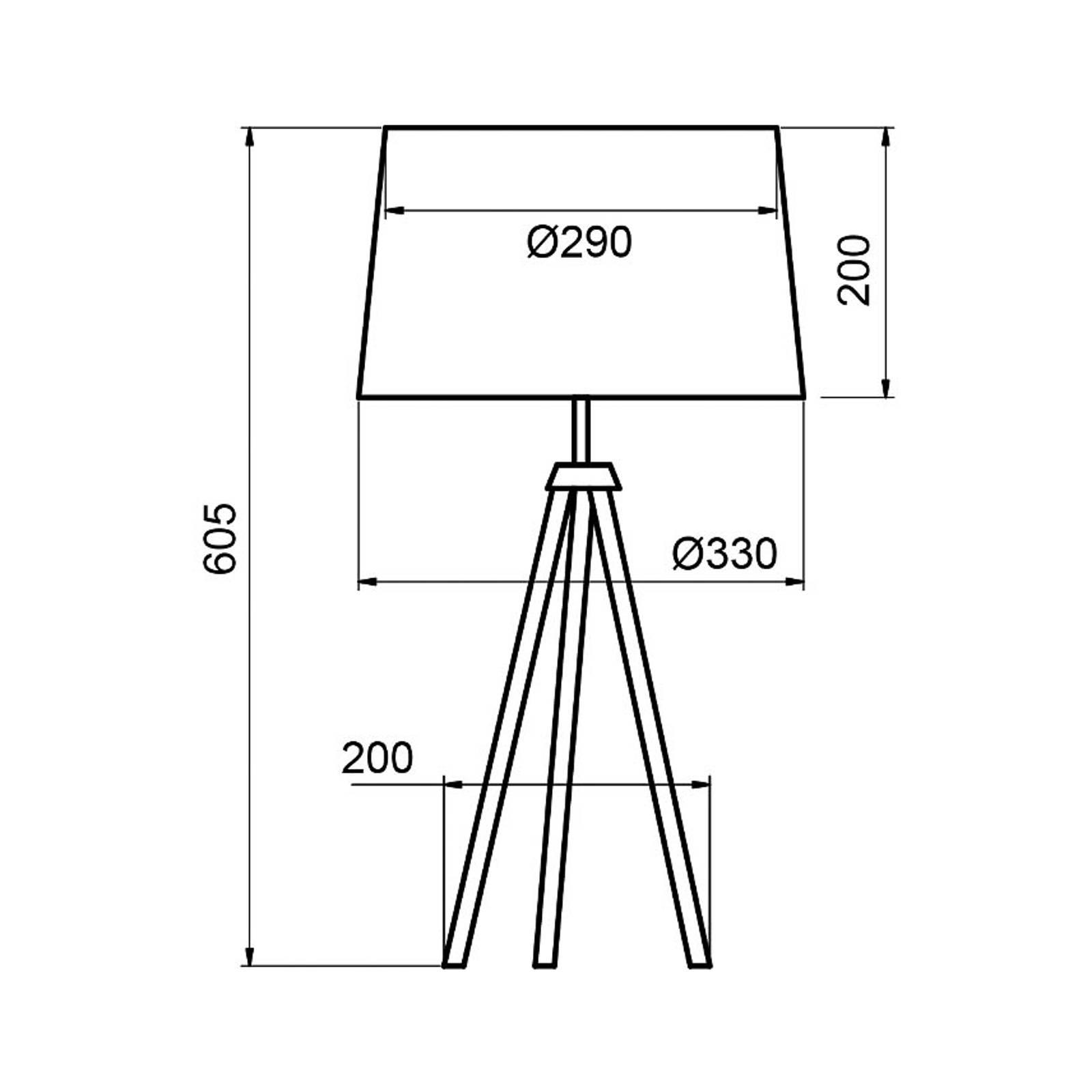 Aluminor Tropic-pöytälamppu, musta/keltainen johto