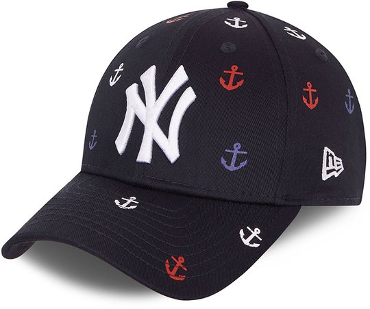 New Era All Over Graphic 9Forty Caps, Navy, 4-6 Jahre