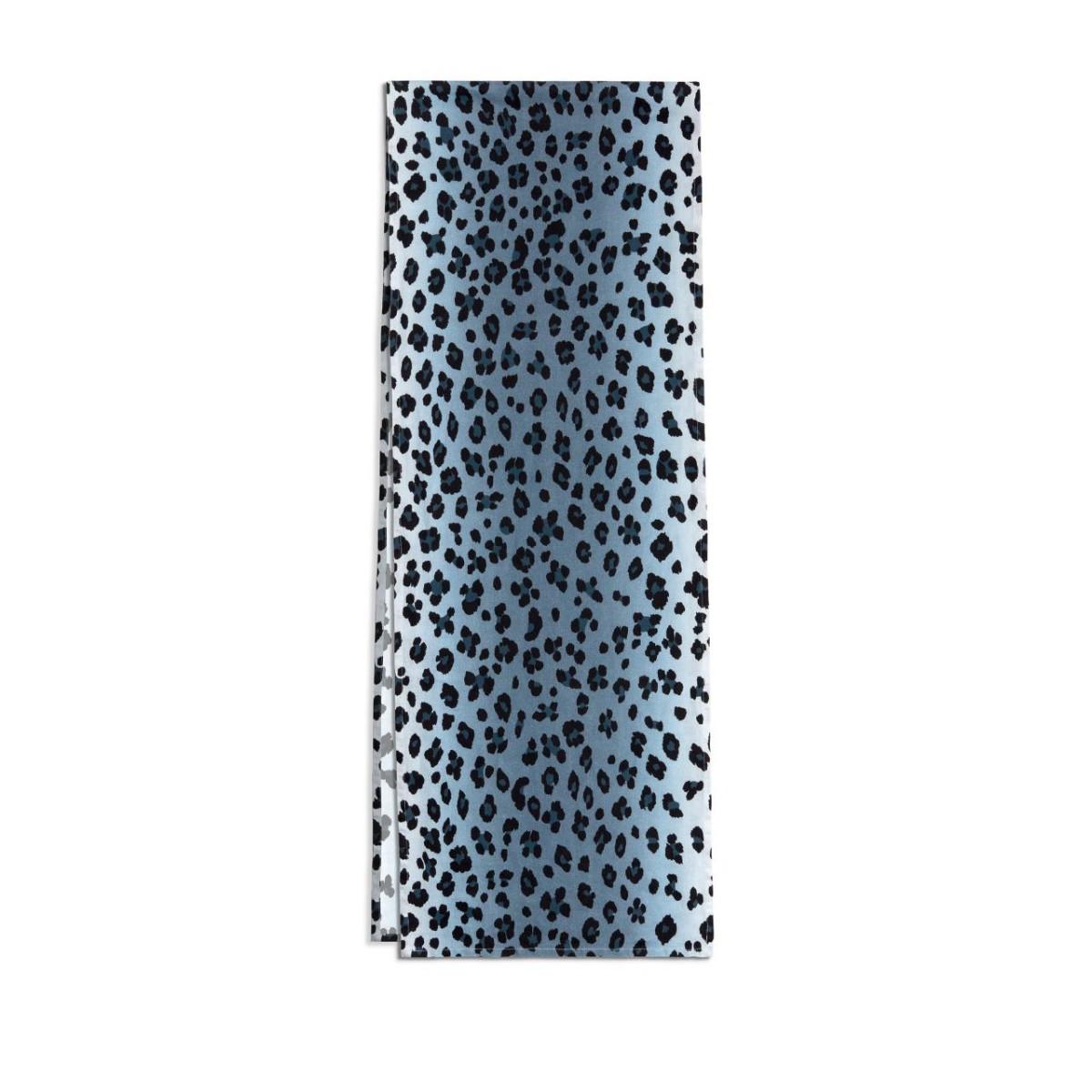 L'Objet I Linen Sateen Runner I Leopard - Blue