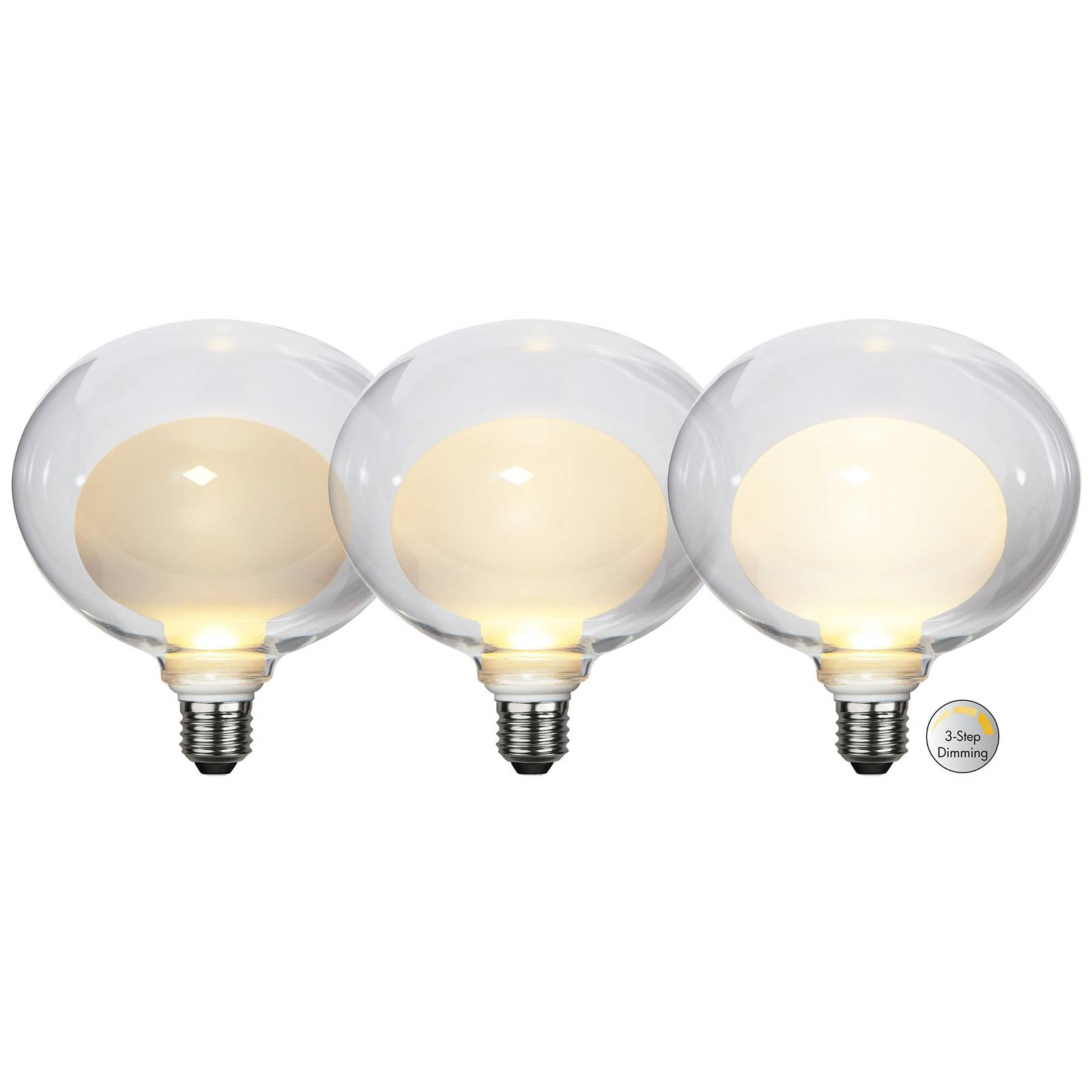LED-lamppu Space E27 3,5W G150, opaali, 3-step dim