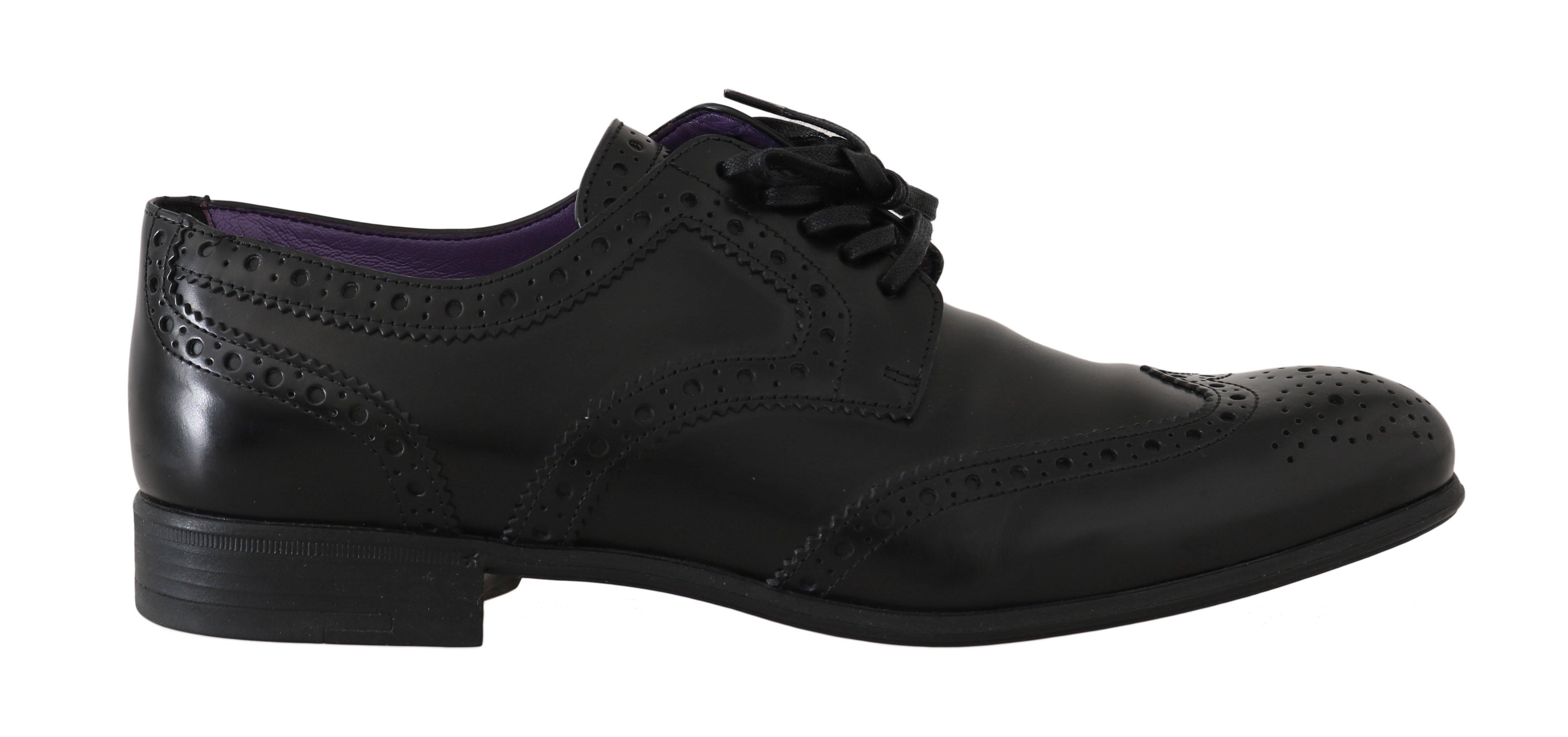 Dolce & Gabbana Women's Leather Perforated Flat Shoe Brown LA5526 - EU38.5/US8