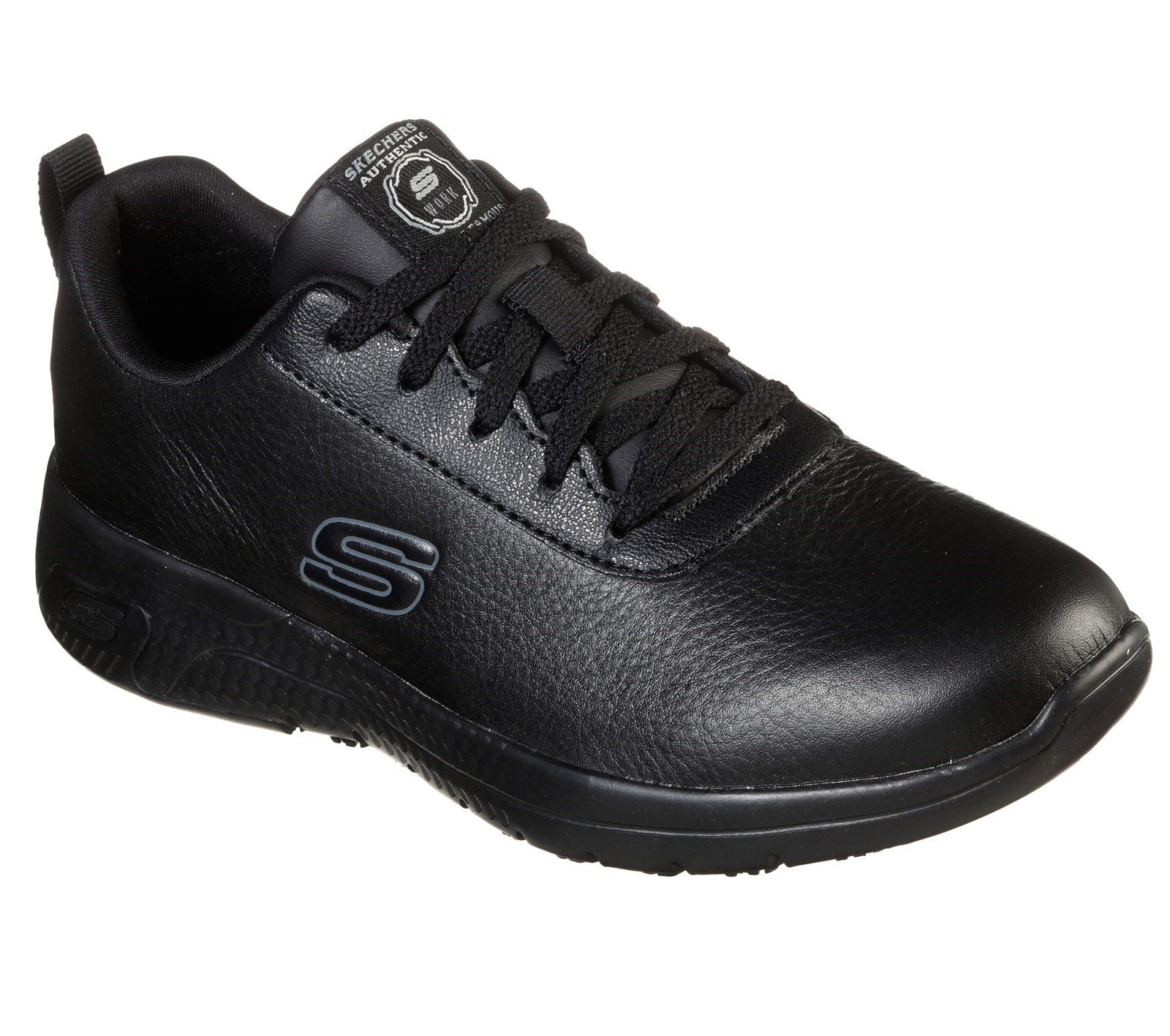 Skechers Women's Marsing Gmina Slip Resistant Trainer Various Colours 32618 - Black 3