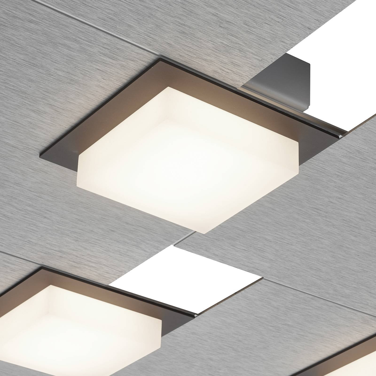 BANKAMP Quadro LED-taklampe 64 W, sølv