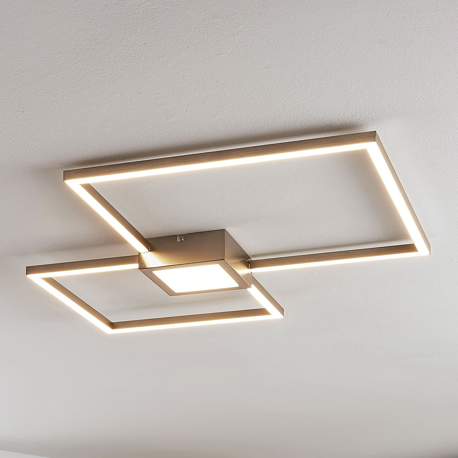 LED-taklampe Duetto, kvadrater