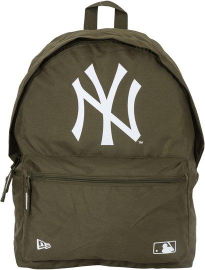 New Era MLB NYY Ryggsekk 16L, New Olive/White