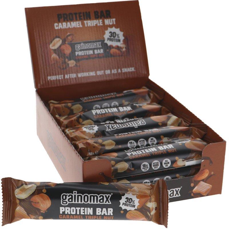 Proteiinipatukat Karamelli & Pähkinä - 25% alennus