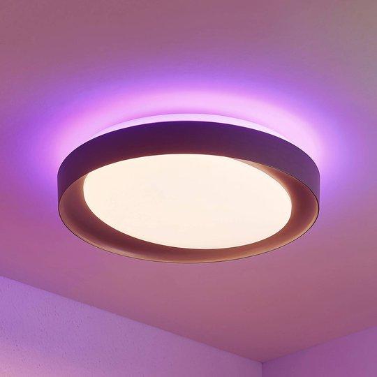 Lindby Alyano LED-taklampe, RGB, CCT, dimbar