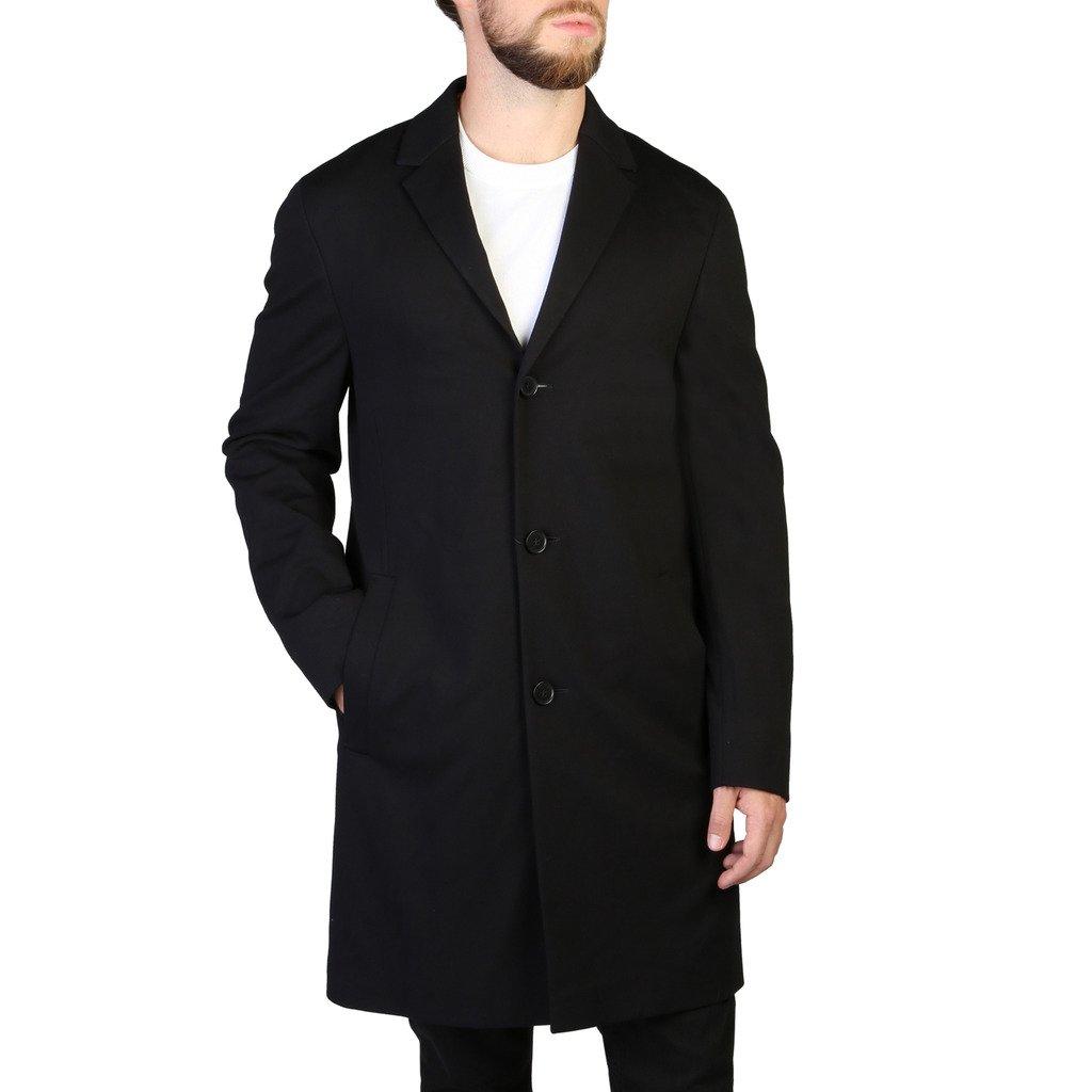 Calvin Klein Men's Coat Black 349284 - black 46