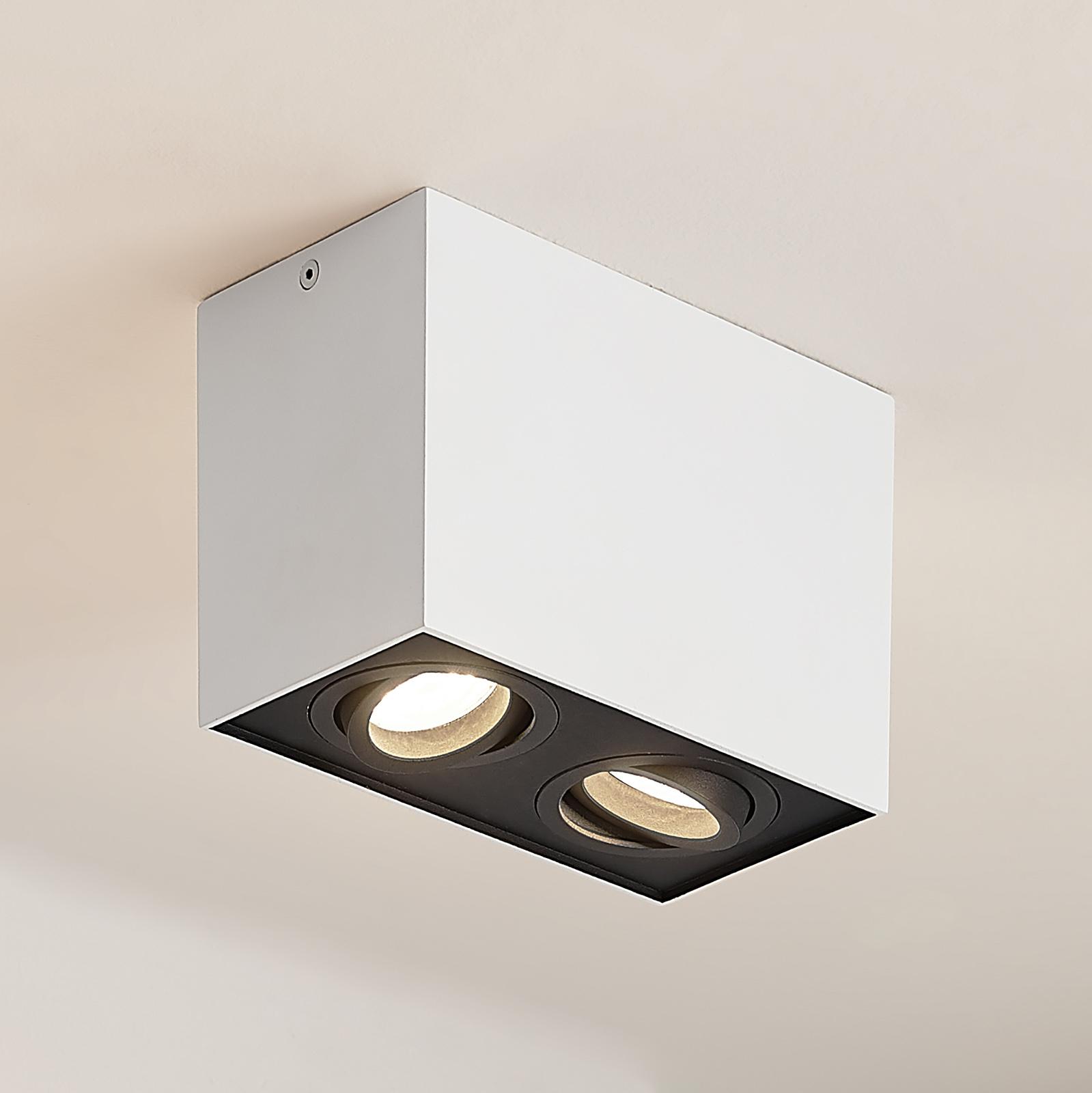 Arcchio Hermalina -kattovalo, kulmikas, 2-lamp.