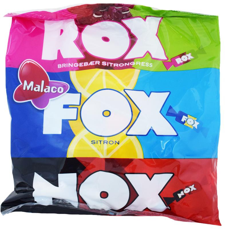"""Godisblandning """"Rox, Fox & Nox"""" 180g - 48% rabatt"""