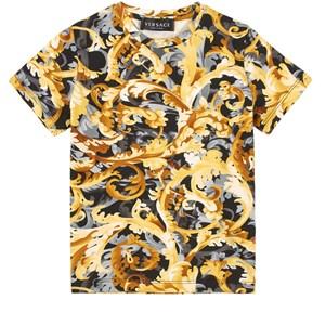 Versace Baroccoflage T-shirt Svart 4 år
