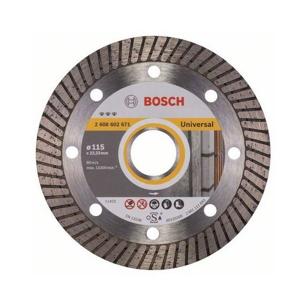 Bosch Best for Universal Turbo Diamantkappskive 115x22,23mm