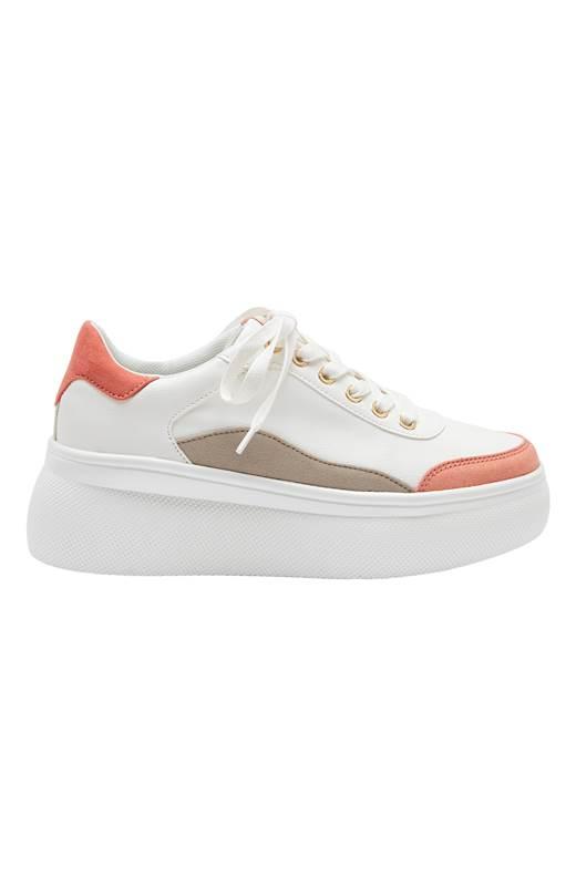 Duffy Sneakers Vit Korall