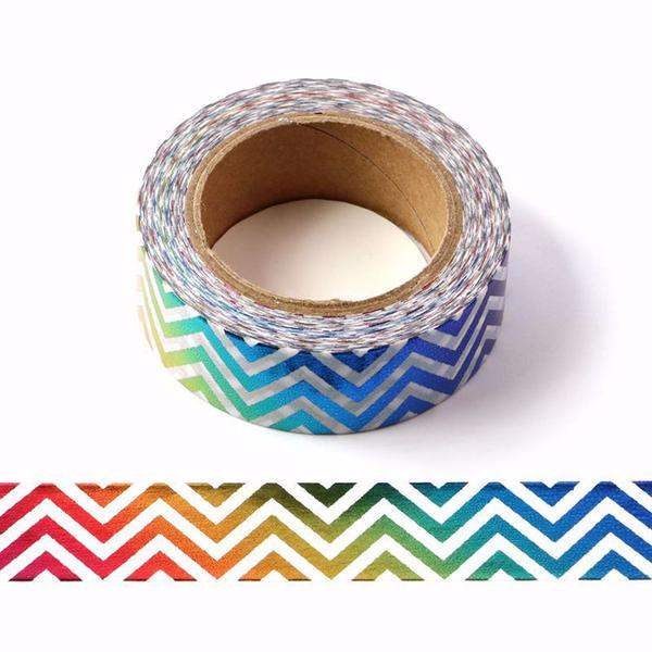 Rainbow Chevron Washi Tape