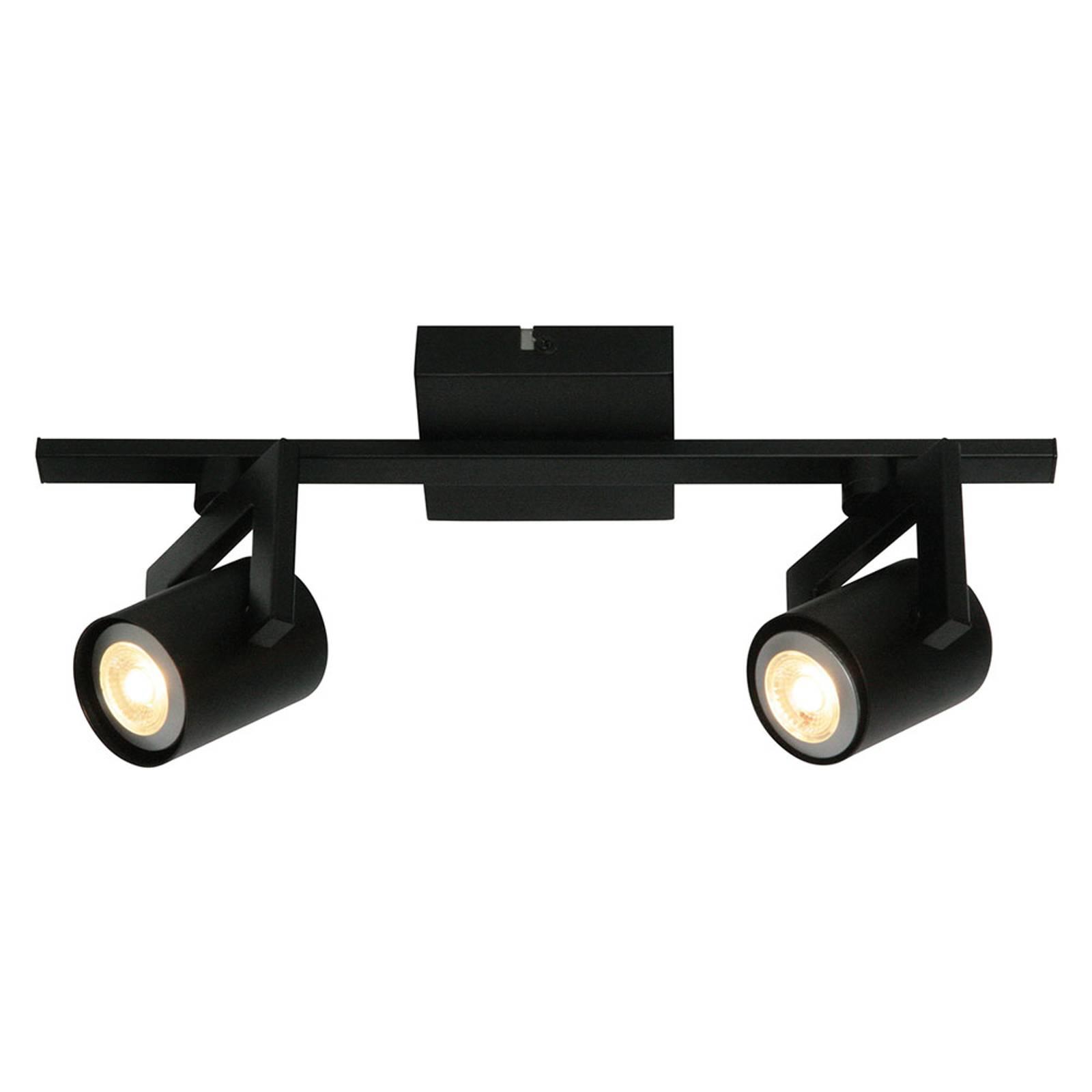 Moderni kattovalaisin ValvoLED musta, 2-lamppuinen