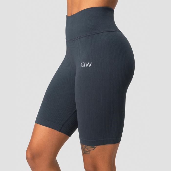 Ribbed Define Seamless Biker Shorts, Smokey Blue
