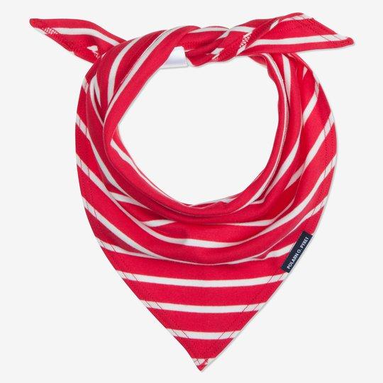 Bandana/skjerf stripet rød