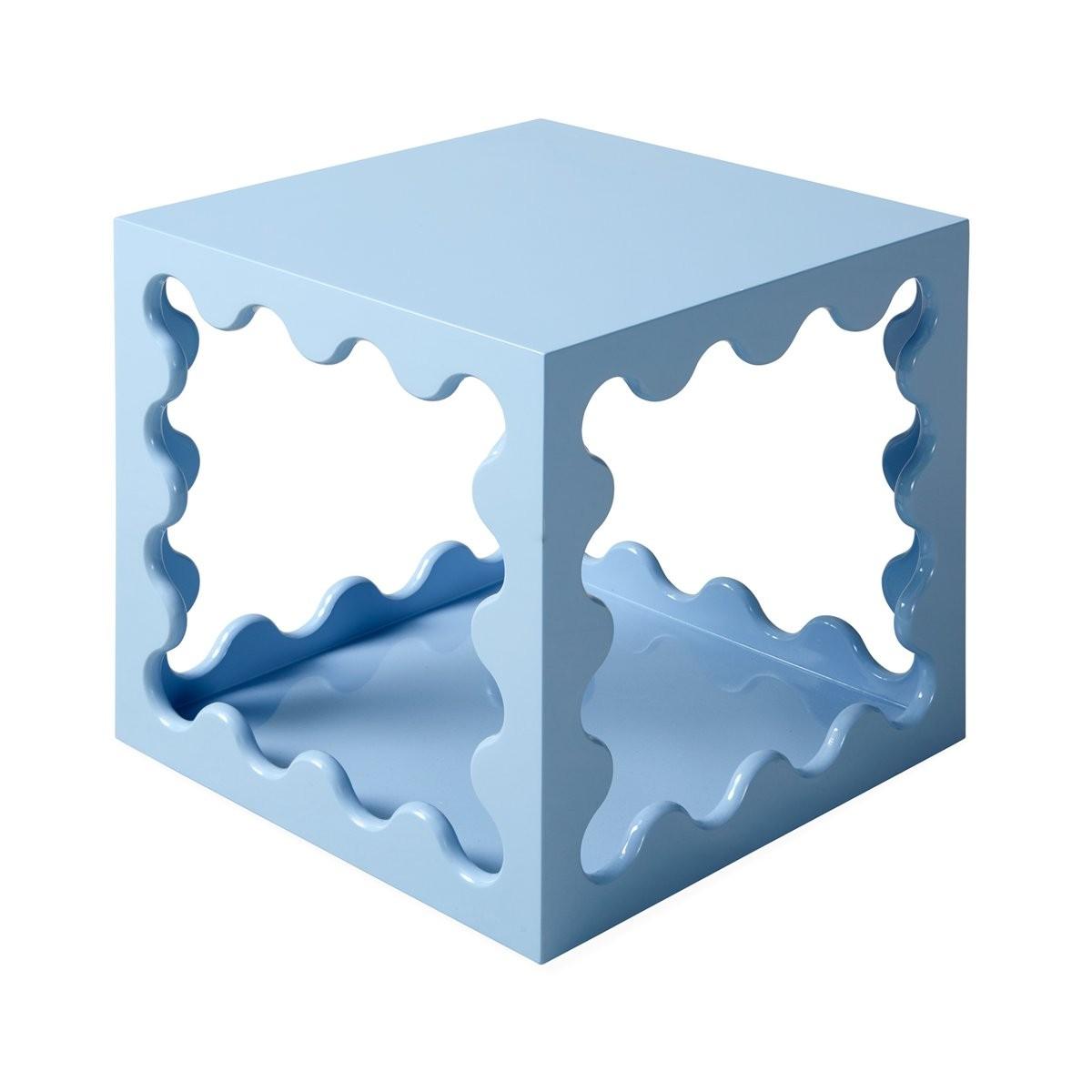 Jonathan Adler I Ripple Lacquer Cube I Blue