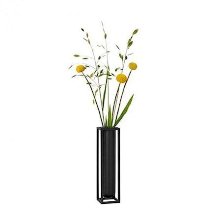 Kubus Vase Flora Svart