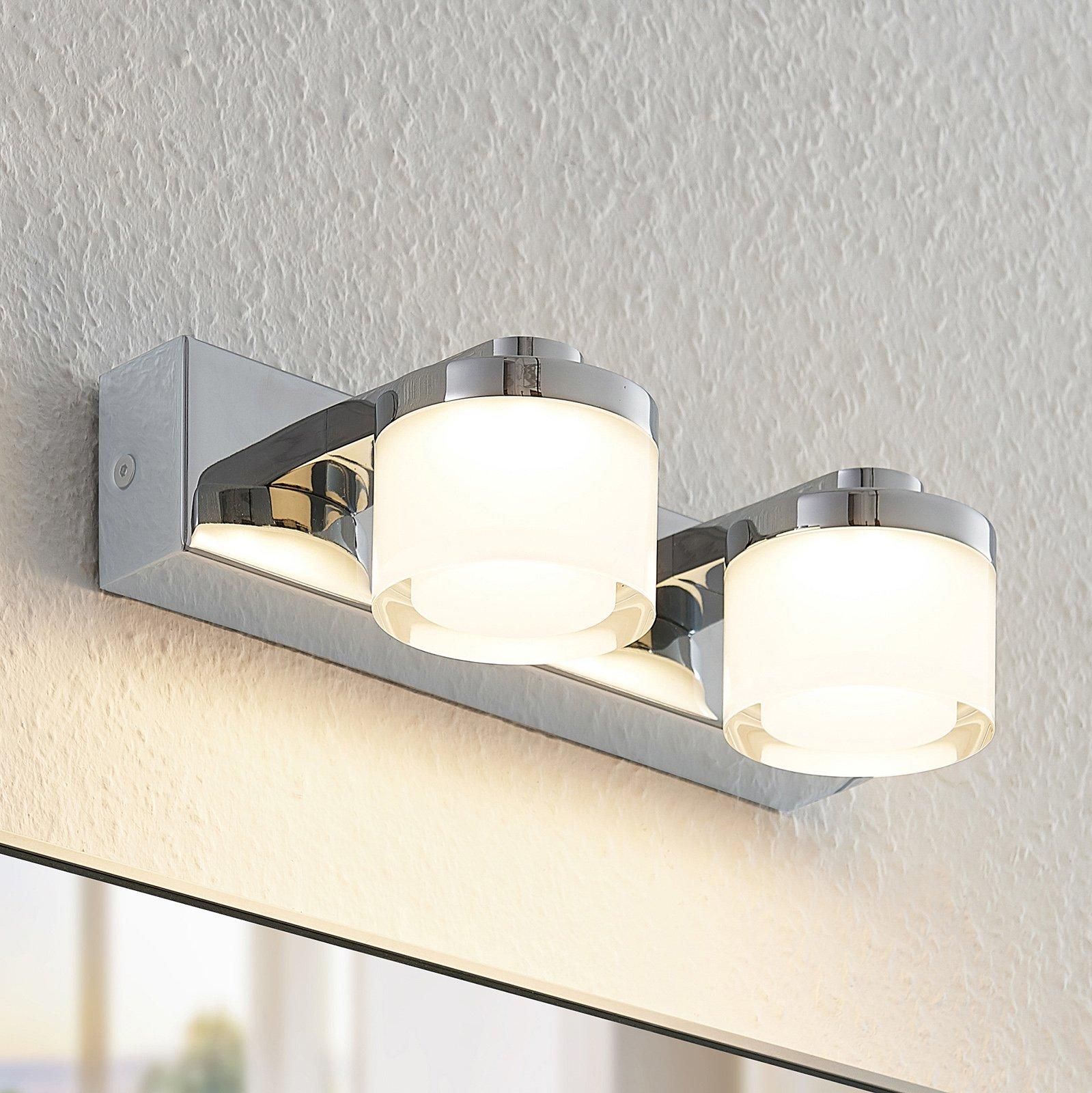 Arcchio Kejan LED-vegglampe IP44 2 lyskilder bred