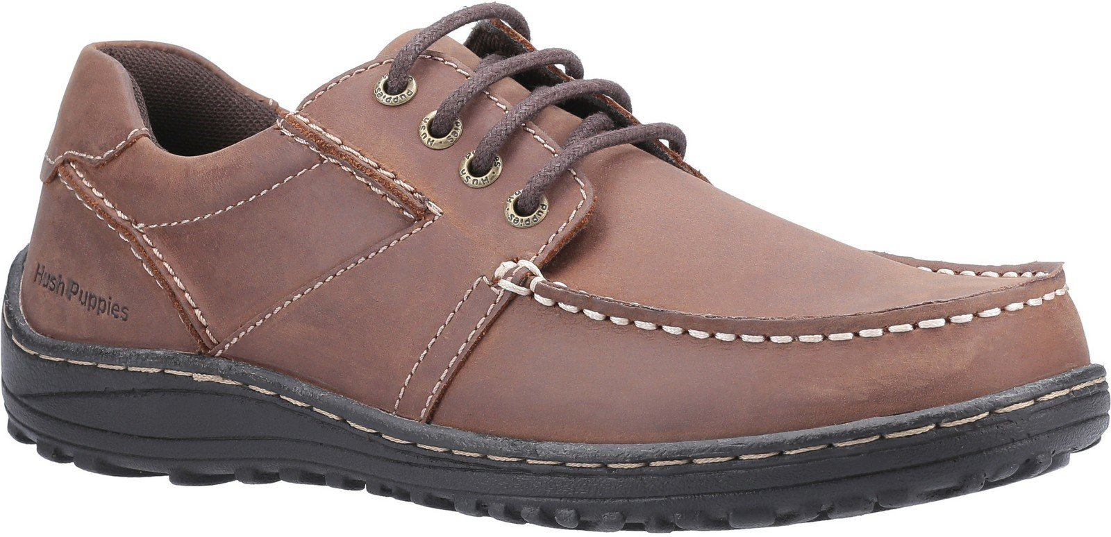 Hush Puppies Men's Theo Lace Up Moccasin Various Colours 30212 - Brown 6