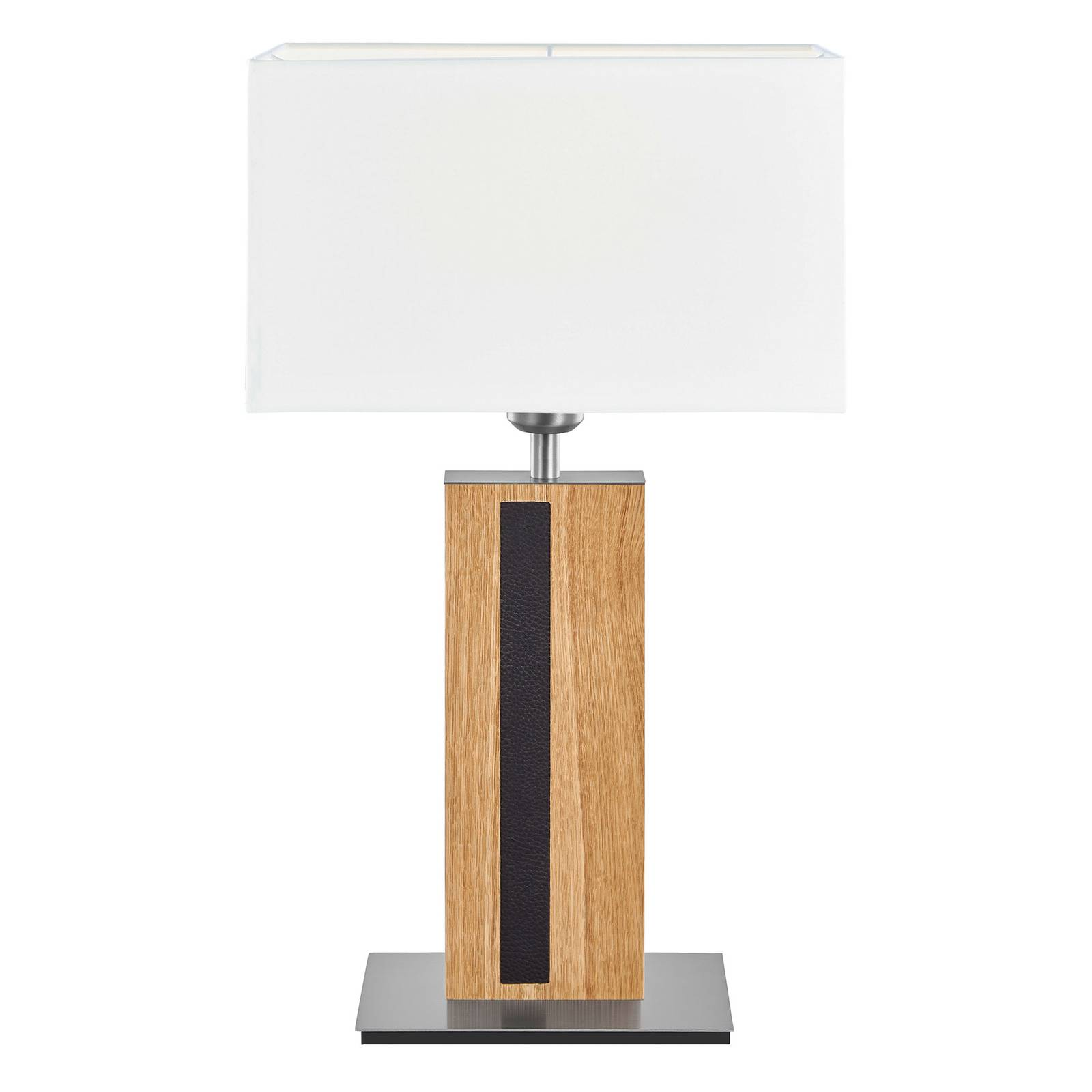 HerzBlut Maive -pöytälamppu, öljytty tammi, 56 cm