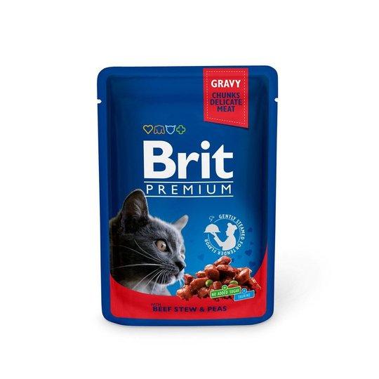 Brit Premium Portionspåsar Med Biff & Ärtor För Katter