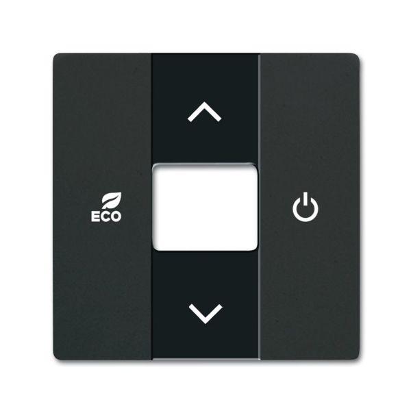 ABB Future Linear 6220-0-0631 Keskiölevy termostaatti Musta