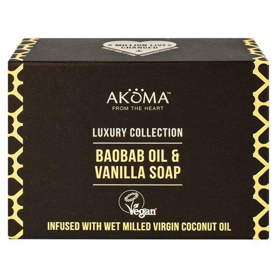 Akoma Baobab Oil & Vanilla Soap, 105 g