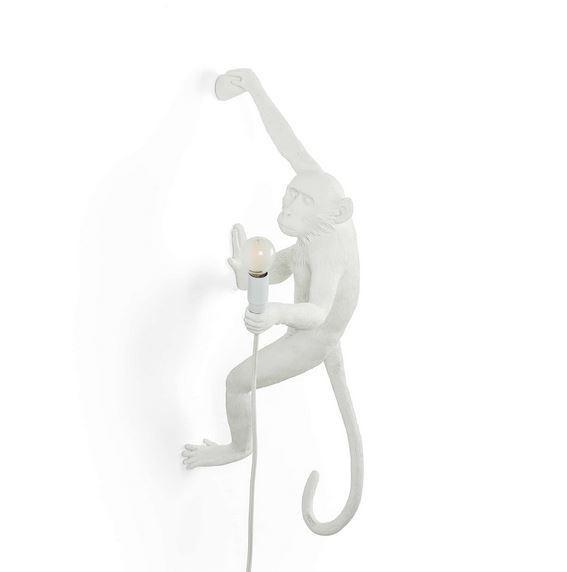 "Seletti Aplampa Seletti Monkey ""Hanging Right"" vit"