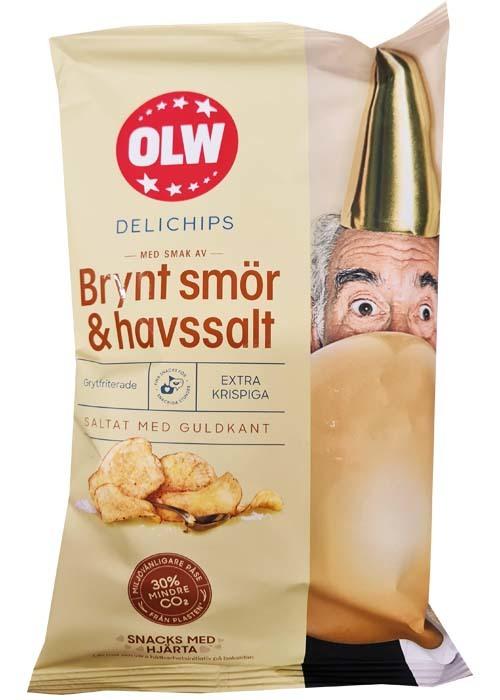 OLW Delichips Brynt Smör & Havssalt 150