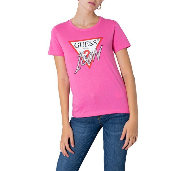 Guess Women's T-Shirt Pink 304910 - pink L
