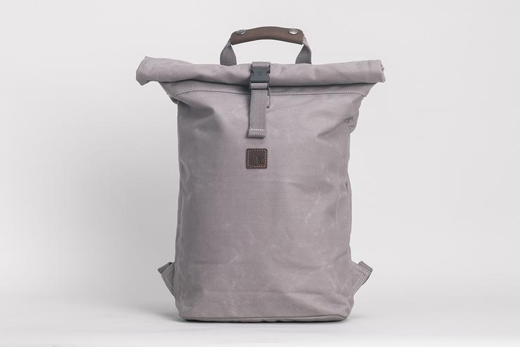 Rollie Backpack Waxed Canvas Grey