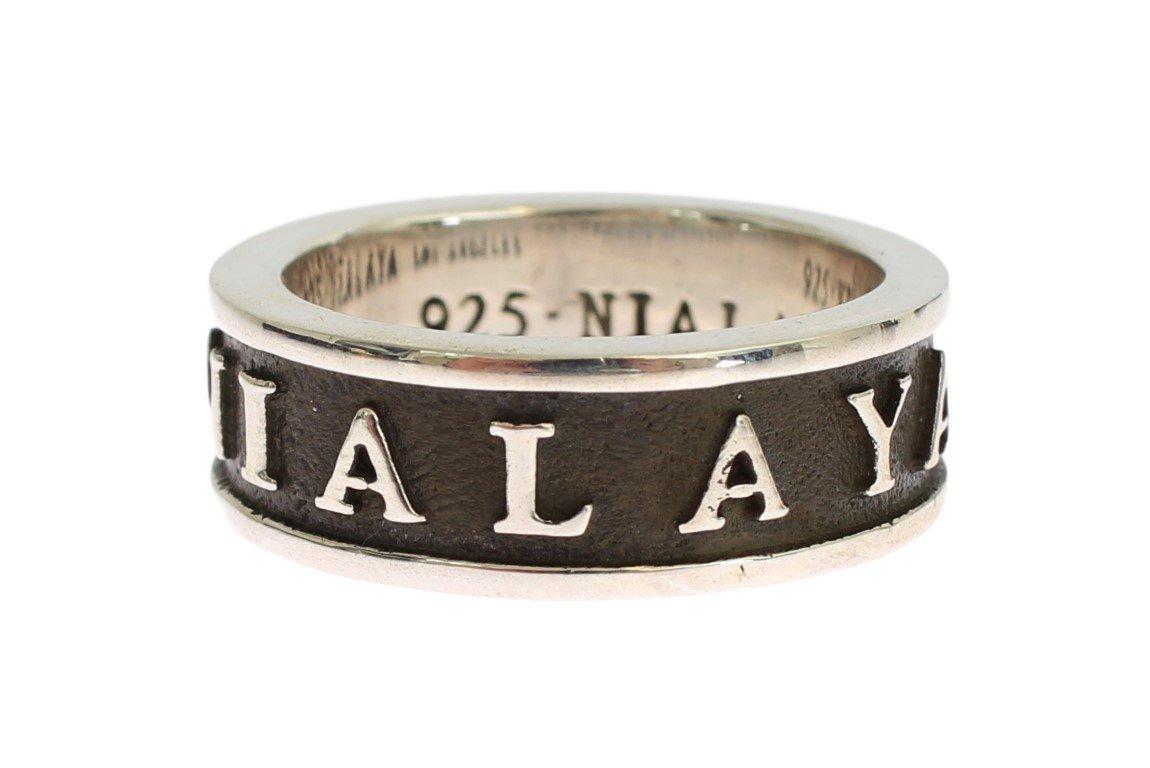 Nialaya Women's Sterling 925 Ring Silver SIG19129 - EU68   US13