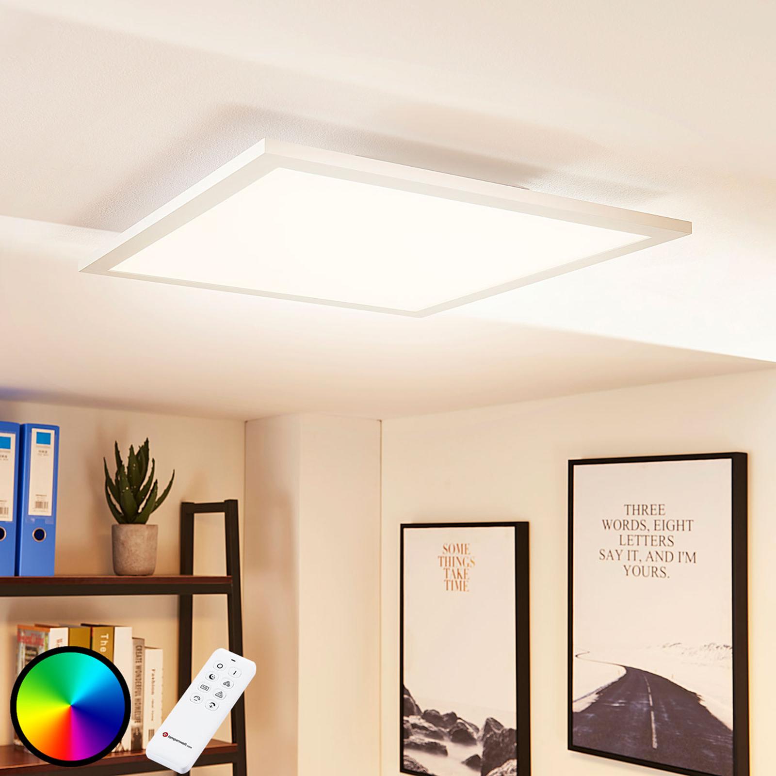 Arcchio Tinus -LED-paneeli, RGB, 45 cm x 45 cm
