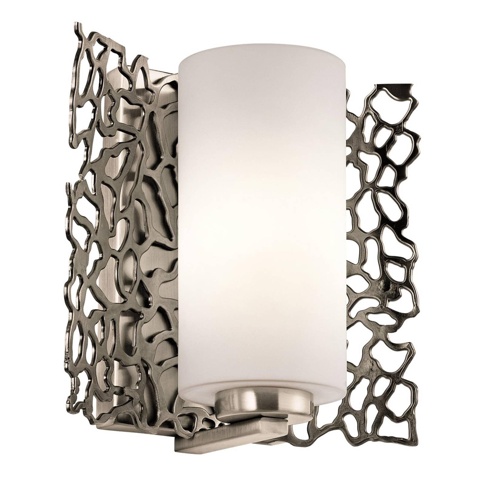 Elegant formet vegglampe Silver Coral