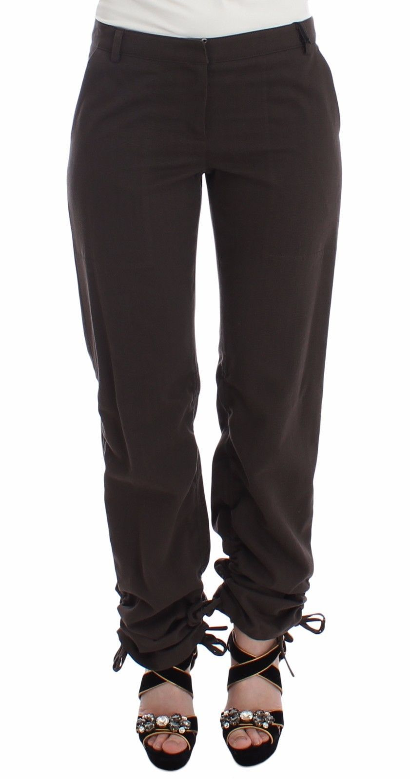 Ermanno Scervino Women's Chinos Trouser Brown MOM26757 - IT38|XS