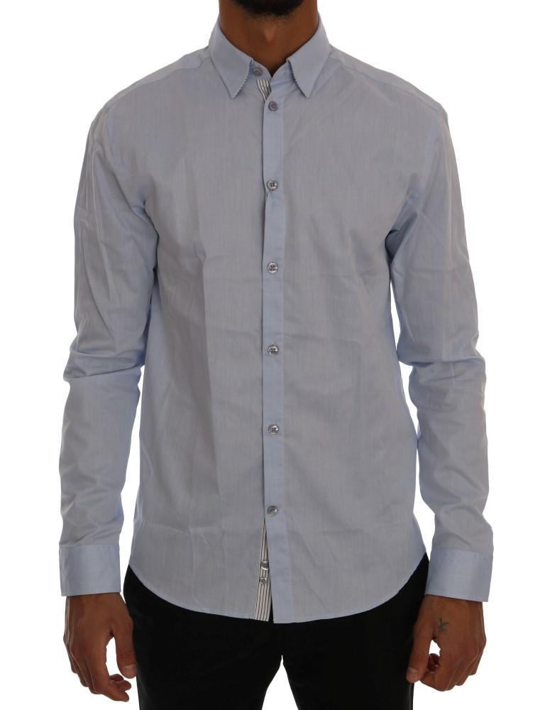 Frankie Morello Men's Regular Fit Shirt Blue TSH1397 - S