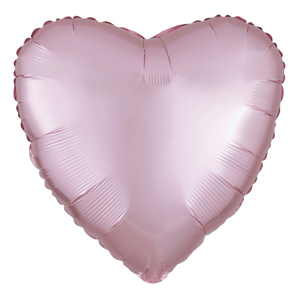 Folieballong Hjärta Satin Pastellrosa